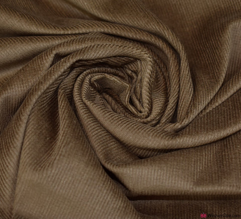 Cotton Needlecord Fabric - Light Brown