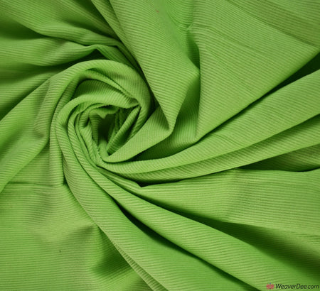 Fine Cotton Needlecord Fabric - Lime Green