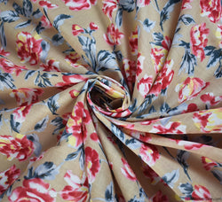 Nerissa Floral Cotton Lawn Fabric