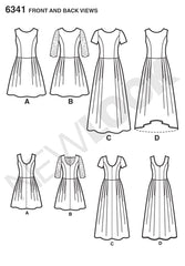 New Look - NL6341 Misses' Dress in Three Lengths - WeaverDee.com Sewing & Crafts - 1