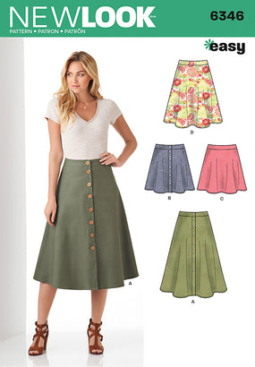 New Look - NL6346 Misses' Skirts in Three Lengths | Easy - WeaverDee.com Sewing & Crafts - 1
