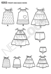 New Look - NL6353 Babies' Dresses & Panties | Easy - WeaverDee.com Sewing & Crafts - 1
