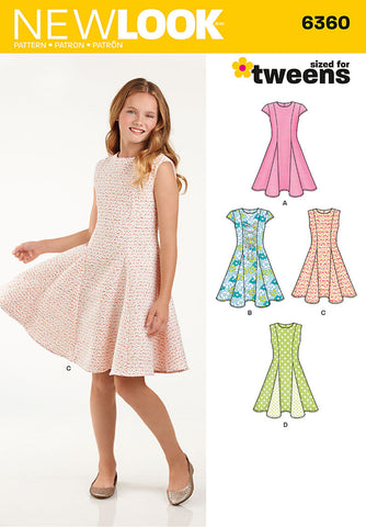 New Look - NL6360 Tween Girls' Dress - WeaverDee.com Sewing & Crafts - 1