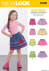 New Look - NL6409 Child's Pull-On Skirts - WeaverDee.com Sewing & Crafts - 1