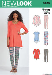 New Look - NL6439 Misses' Knit Tunics & Leggings - WeaverDee.com Sewing & Crafts - 1