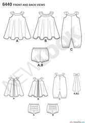 New Look - NL6440 Baby Romper & Sundress with Panties - WeaverDee.com Sewing & Crafts - 1