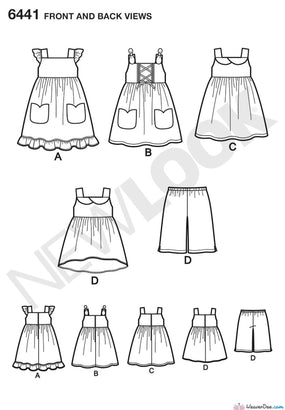 New Look - NL6441 Toddlers' Easy Dresses, Top & Cropped Pants - WeaverDee.com Sewing & Crafts - 1