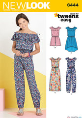 New Look - NL6444 Girl's Dress & Jumpsuit in 2 Lengths - WeaverDee.com Sewing & Crafts - 1