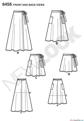 New Look - NL6456 Misses Skirts | Easy - WeaverDee.com Sewing & Crafts - 1