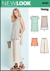 New Look - NL6461 Misses Dress, Tunic, Top & Cropped Pants - WeaverDee.com Sewing & Crafts - 1