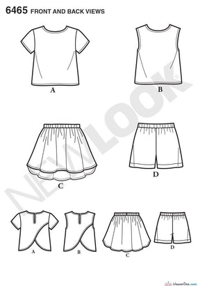 New Look - NL6465 Child's Easy Top, Skirt & Shorts - WeaverDee.com Sewing & Crafts - 1