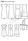 New Look - NL6095 Misses' Dresses & Tote Bags | EASY - WeaverDee.com Sewing & Crafts - 3