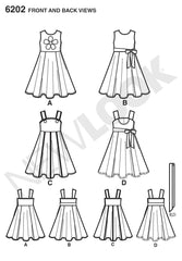 New Look - NL6202 Child's Dress & Sash - WeaverDee.com Sewing & Crafts - 1