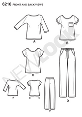 New Look - NL6216 Misses' Knit Tops & Pants | Easy - WeaverDee.com Sewing & Crafts - 1