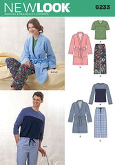 New Look - NL6233 Unisex Pants, Robe & Knit Tops - WeaverDee.com Sewing & Crafts - 1