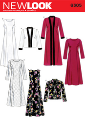 New Look - NL6305 Misses' Dress & Long or Short Jacket - WeaverDee.com Sewing & Crafts - 1