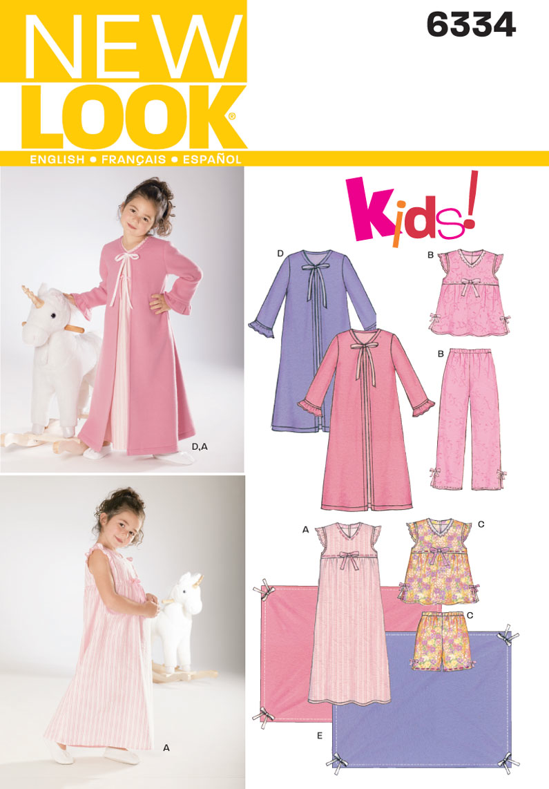 New Look - NL6334 Girls' Sleepwear - WeaverDee.com Sewing & Crafts - 1