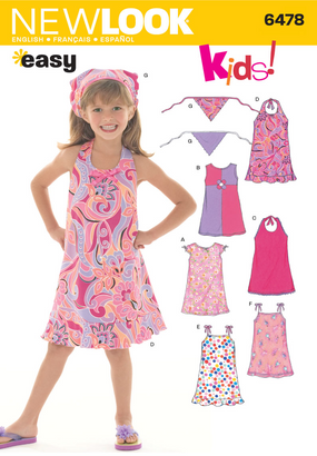 New Look - NL6478 Child Dress | Easy - WeaverDee.com Sewing & Crafts - 1