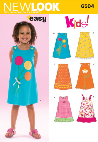 New Look - NL6504 Child Dress | Easy - WeaverDee.com Sewing & Crafts - 1