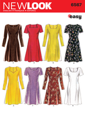 New Look - NL6567 Misses Dress | Easy - WeaverDee.com Sewing & Crafts - 1