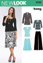 New Look - NL6735 Misses Separates | Easy - WeaverDee.com Sewing & Crafts - 1