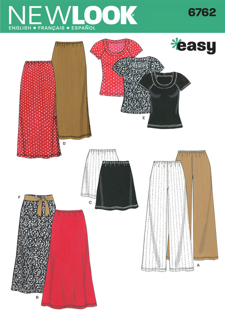 New Look - NL6762 Misses Separates | Easy - WeaverDee.com Sewing & Crafts - 1