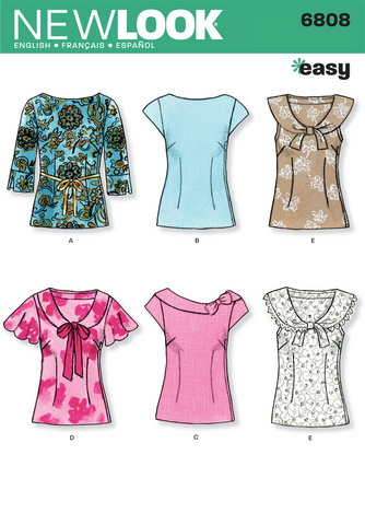 New Look - NL6808 Misses Top | Easy - WeaverDee.com Sewing & Crafts - 1