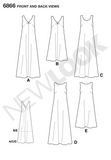 New Look - NL6866 Misses Dress | Easy - WeaverDee.com Sewing & Crafts - 2