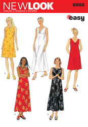 New Look - NL6866 Misses Dress | Easy - WeaverDee.com Sewing & Crafts - 1