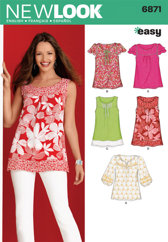 New Look - NL6871 Misses Top | Easy - WeaverDee.com Sewing & Crafts - 1