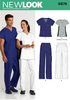 New Look - NL6876 Misses' & Mens' Doctor / Nurse Scrubs - WeaverDee.com Sewing & Crafts - 1