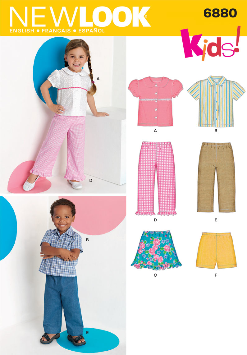 New Look - NL6880 Toddler Separates - WeaverDee.com Sewing & Crafts - 1