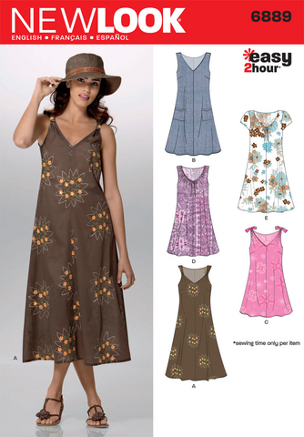 New Look - NL6889 Misses Dress | Easy - WeaverDee.com Sewing & Crafts - 1