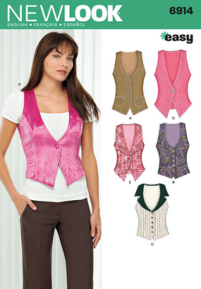 New Look - NL6914 Misses Vest | Easy - WeaverDee.com Sewing & Crafts - 1
