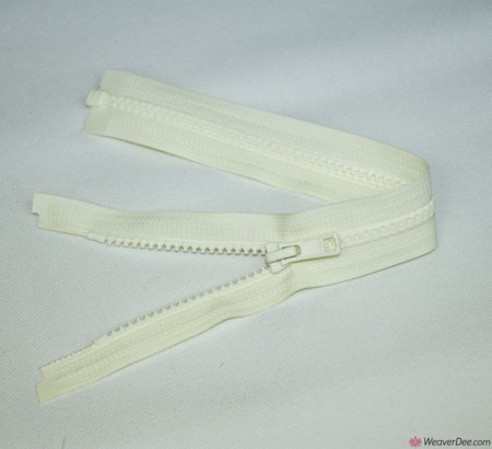 YKK Vislon Open Ended Zip [502 Cream - 5mm Tooth Width]