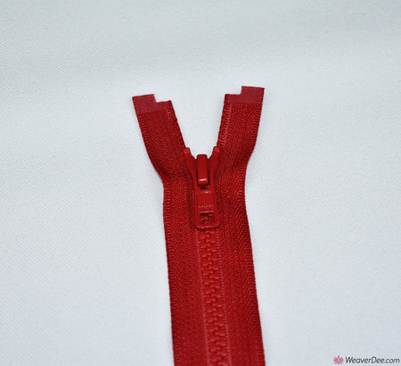 YKK Vislon Open Ended Zip [519 Red - 5mm Tooth Width]