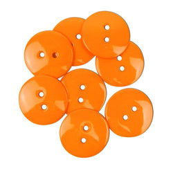 Favourite Findings Buttons: Orange Large 22mm (pack of 9)