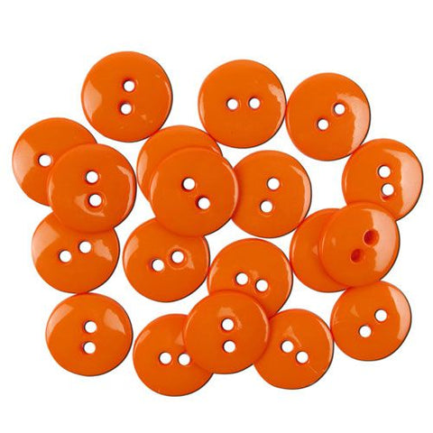 Favourite Findings Buttons: Orange Small 16mm (pack of 20)