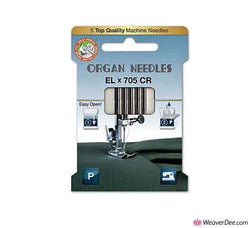 ORGAN EL X 705 Needles for Cover Hem Machines & Related Overlockers [Pack of 5]