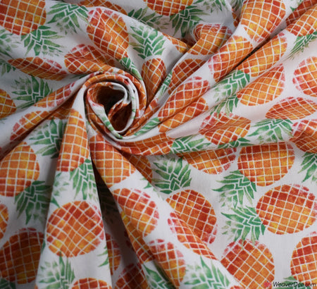 Cotton Poplin Fabric - Sweet Pineapple