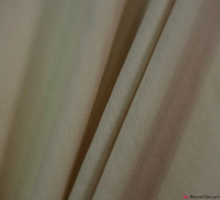 Plain Poly Cotton Fabric / Beige