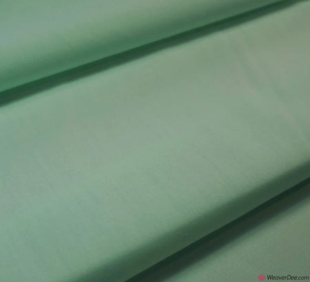 Plain Poly Cotton Fabric / Mint Green