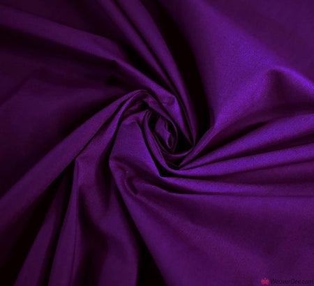Plain Poly Cotton Fabric / Dark Purple