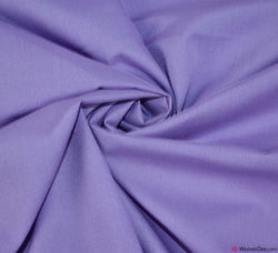 Plain Poly Cotton Fabric / Violet