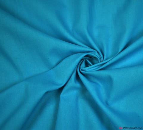 Plain Poly Cotton Fabric / Dark Turquoise