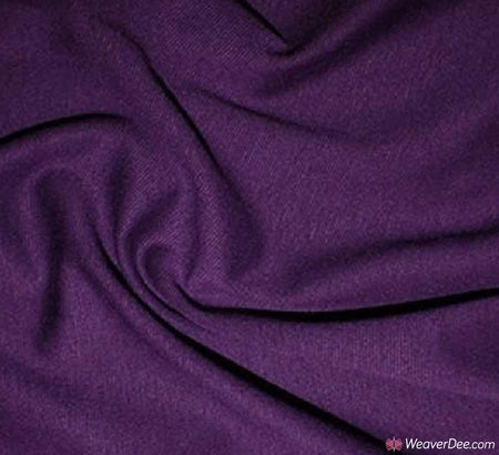 Ponte Roma Jersey Fabric / Purple