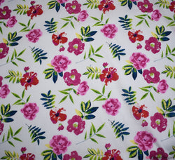 Poppy Head Cotton Lawn Fabric