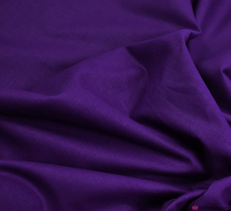 Plain Cotton Fabric / Purple (60 Square)