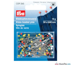 Prym - 30mm Glass-Headed Pins (10g pack) - WeaverDee.com Sewing & Crafts