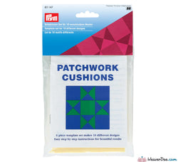 Prym - Patchwork Cushion 6-Piece Template Set - WeaverDee.com Sewing & Crafts - 1